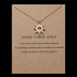 Good Vibes Only Sunshine Necklace